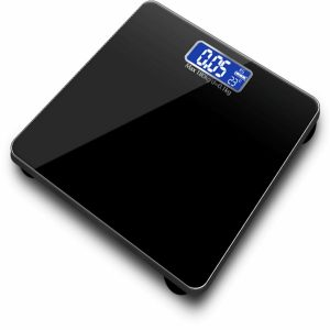 180KG LCD Digital Body Fat Weight Scale Tempered Glass Fitness Health Balance