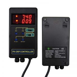 2 in 1 Digital PH & ORP Redox Controller with Separate Relays Repleaceable Electrode BNC Type Probe Water Quality Monitor Tester