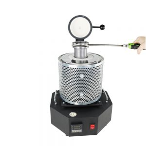 [2021 New] DANIU 3KG 1600W 1250℃ Max High-power Gold Melting Furnace Metal Smelting Equipment for Gold Silver Copper Aluminum Tin