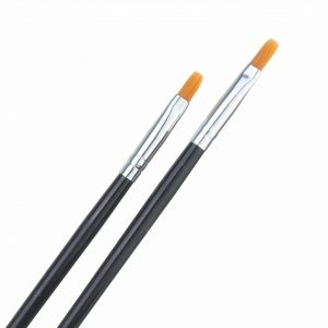 2Pcs Model Color Pen Flat Brush Hand Painting Tools for Oil Painting Pigments