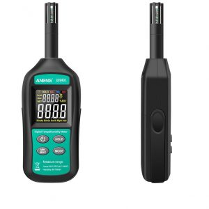 ANENG GN401 Mini Temperature Humidity Meter Handheld No Contact Precision Digital Air Thermometer Hygrometer Gauge Tester