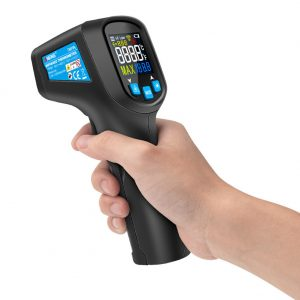 ANENG  TH01A -50 ~ 400 ℃ Digital Infrared Thermometer Meter Non Contact IR Thermometer Pyrometer Hygrometer Color LCD Screen