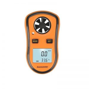 Digital Anemometer 0-30m/s Wind Speed Meter -10 ~ +45°C Temperature Tester Anemometro with LCD Backlight Display