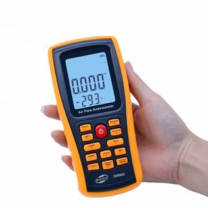 GM8902 0-45M/S Digital Anemometer Wind Speed Meter Air Volume Ambient Temperature Tester With USB Interface